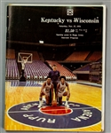 1976 Adolph Rupp Kentucky Wildcats Signed Opening Game at Rupp Arena Program (JSA)