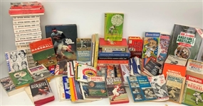 1950s-2000s Baseball, Football, Basketball, Hockey Media Guides, Record Books, and more (Lot of 230+)