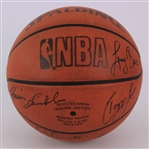 1990-91 Boston Celtics Multi Signed ONBA Stern Basketball w/ 9 Signatures Including Larry Bird, Kevin McHale, Robert Parish, Reggie Lewis & More (JSA)