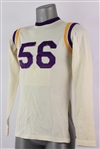 1960s Bel-Mar Sportswear #56 Game Worn Durene Football Jersey (MEARS LOA)