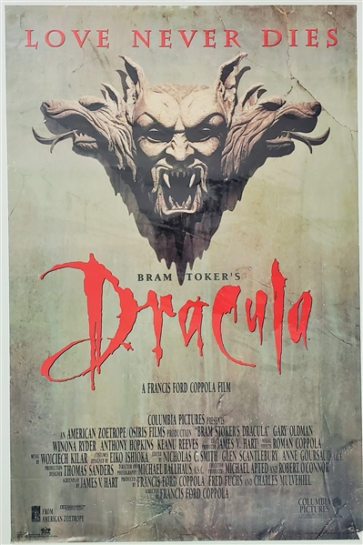 1992 Bram Stokers Dracula 23 x 34.5 Movie Poster