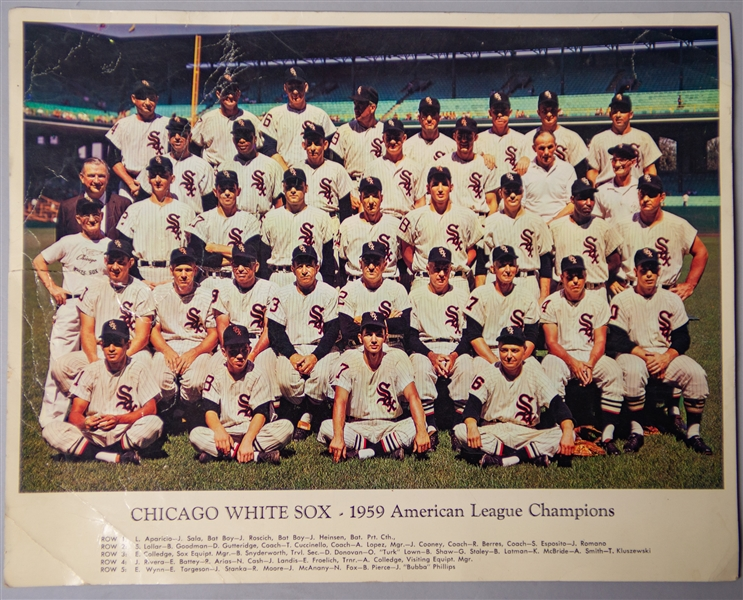 1959 Chicago White Sox American League Champions 11x14 Team Photo
