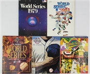 1970s-2000s World Series Programs (Lot of 5)