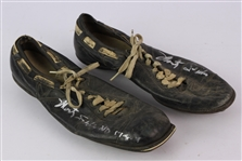1957-59 Monty Stickles Notre Dame Fighting Irish Signed Game Worn Riddell Cleats (MEARS LOA/JSA)