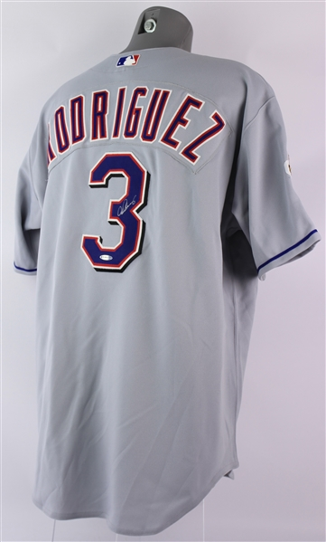 2001 Alex Rodriguez Texas Rangers Signed Jersey (Upper Deck Authentication)