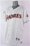1997 Tony Gwynn San Diego Padres Signed Game Worn Home Jersey (MEARS A10/JSA) NL Batting Crown Season