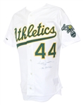 1989 Reggie Jackson Signed & Inscribed Oakland Athletics Jersey (JSA)