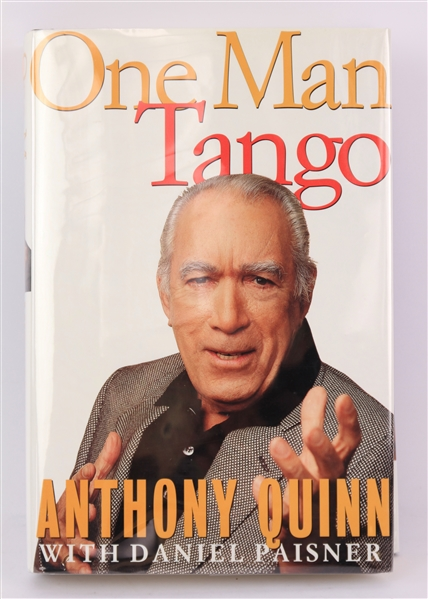 1995 Anthony Quinn Signed One Man Tango Hardcover Book (JSA)