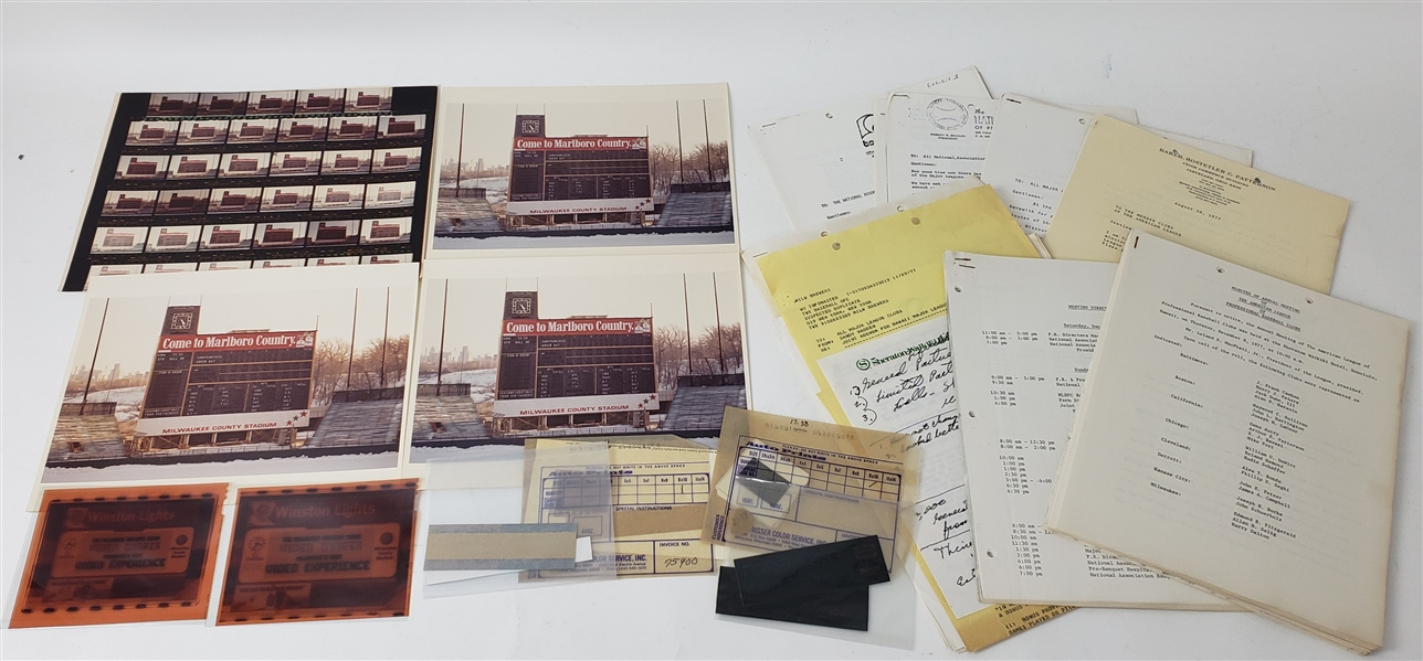 1970s-90s Milwaukee Brewers Team Documentation & County Stadium Photograph Collection - Lot of 100s