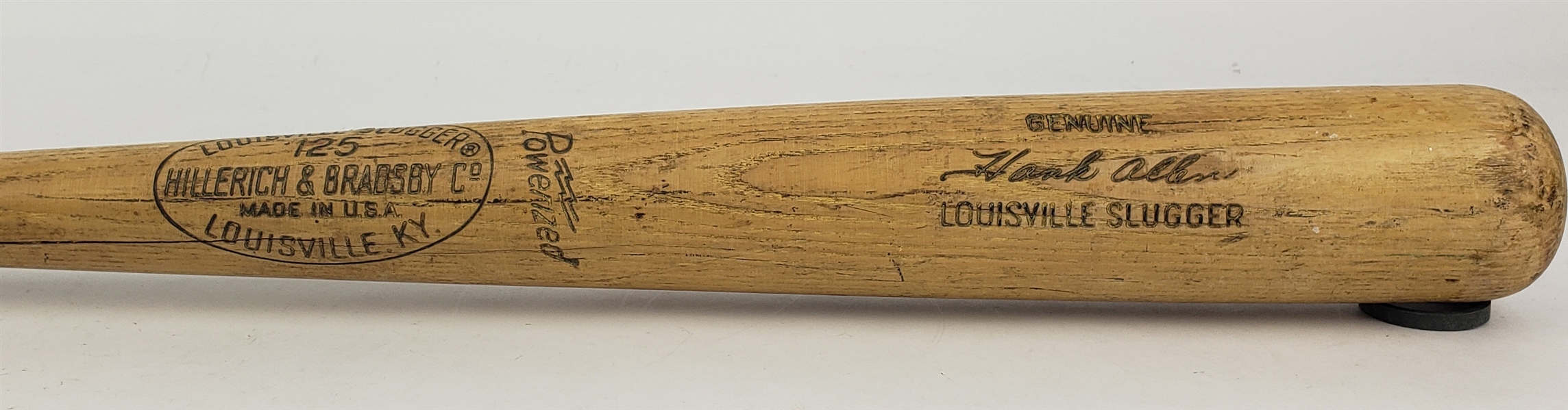 1970 Hank Allen Milwaukee Brewers H&B Louisville Slugger Professional Model Game Used Bat (MEARS LOA) Brewers Inaugural Season