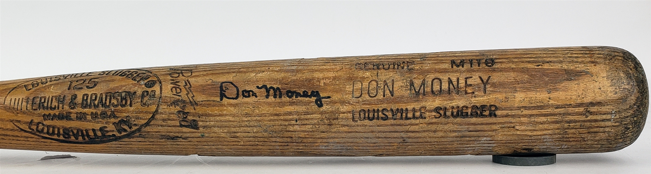 1977-79 Don Money Milwaukee Brewers Signed H&B Louisville Slugger Professional Model Game Used Bat (MEARS LOA/JSA)