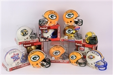 1990s-2000s Green Bay Packers Signed Mini Helmet Collection - Lot of 18 w/ Ray Nitschke, Jim Taylor & More (JSA)