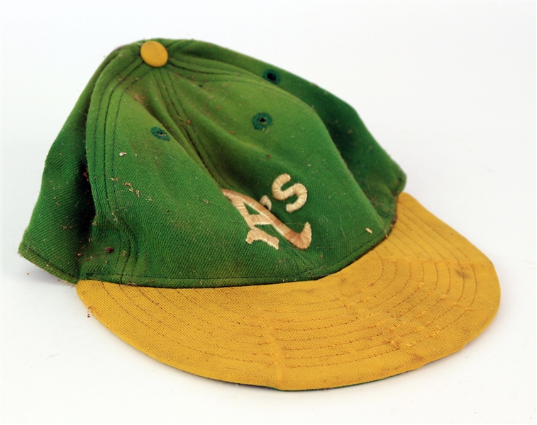 1980-82 Billy Martin Oakland Athletics Signed Game Worn Cap (MEARS LOA/JSA)