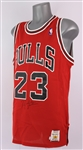 1987-89 Michael Jordan Chicago Bulls Signed Jersey (*JSA Full Letter*) + Come Fly With Me & Air Time VHS Tapes
