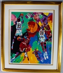 "1990s Michael Jordan LeRoy Neiman Signed 44"" x 51"" Framed Lithograph (Upper Deck Authentication/JSA) 118/320"