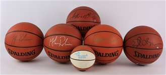 1990s-2000s Baketball Memorabilia Collection - Lot of 22 w/ Signed Basketballs & McFarlane Figures