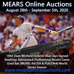 1992 Dave Winfield Toronto Blue Jays Signed Rawlings Adirondack Professional Model Game Used Bat (MEARS A9/JSA & PSA/DNA) World Series Season