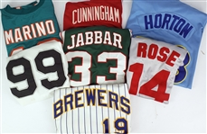 2000s Baseball Football Basketball Retail Jersey Collection - Lot of 7 w/ & More
