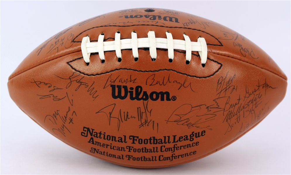 1980s Green Bay Packers Team Signed Wilson Rozelle Football (JSA)