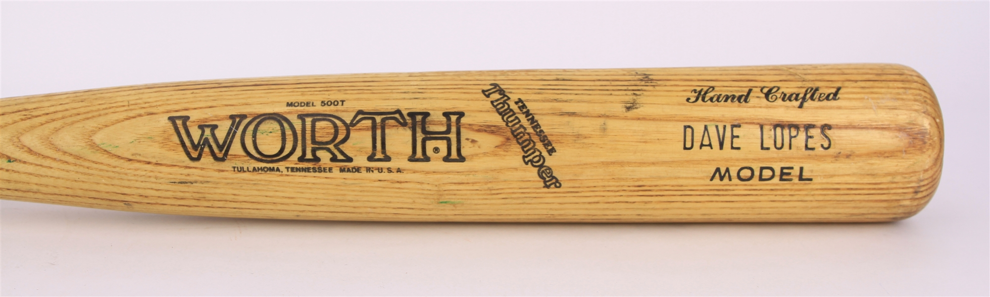 1986 Davey Lopes Houston Astros Worth Professional Model Game Used Bat (MEARS LOA)