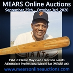 1961-63 Willie Mays San Francisco Giants Adirondack Professional Model Bat (MEARS A6)