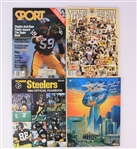 1980-92 Jack Ham Jack Lambert Pittsburgh Steelers Signed Publications - Lot of 4 w/ Super Bowl XIV Program & More (JSA)