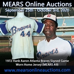 1972 Hank Aaron Atlanta Braves Signed Game Worn Home Jersey (MEARS A9/JSA)