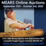 1955-60 Mickey Mantle New York Yankees H&B Louisville Slugger Professional Model Game Used Bat (MEARS A7 & PSA/DNA GU6)