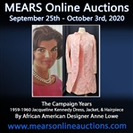 "1959-1960 circa Jacqueline Kennedy Pink Dress, Jacket (w/ Trapunto Texture), & Hairpiece ""Banned From the White House by Joe Kennedy"" LOA MEARS/Consignor / Hand Painted JFK Portrait"