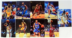 "2000s Topps Reserve Signed 8"" x 10"" Canvas Prints - Lot of 9 w/ Magic Johnson, Shaquille ONeal & More (JSA)"