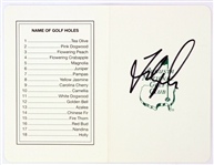 1990s Fred Couples Signed Augusta National Golf Club Scorecard (JSA)