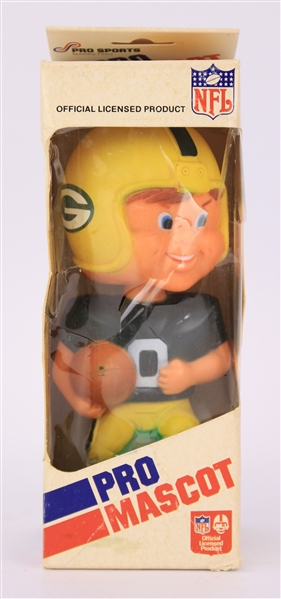 1970s Green Bay Packers MIB Pro Mascot Bobblehead