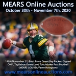 1999 (November 21) Brett Favre Green Bay Packers Signed ONFL Tagliabue Game Used Touchdown Pass Football (MEARS LOA/JSA/Favre Hologram)