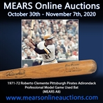 1971-72 Roberto Clemente Pittsburgh Pirates Adirondack Professional Model Game Used Bat (MEARS A8)