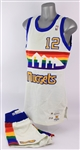 1988-89 Fat Lever Denver Nuggets Game Worn Home Uniform (MEARS A10)