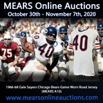 "1966-68 Gale Sayers Chicago Bears Game Worn Road Jersey (MEARS A10) ""Pounded Example with Vintage Team Repairs"""