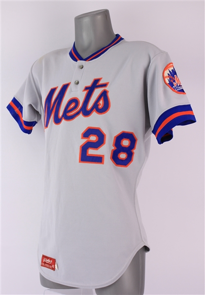 1980 Mark Bomback New York Mets Game Worn Road Jersey (MEARS LOA)