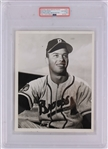 "1952 Eddie Mathews Boston Braves 7"" x 9"" Original Rookie Season Photograph Used For 1953 Topps Card (PSA Slabbed Type I Authentic)"