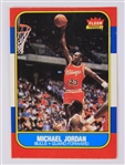 1986 Michael Jordan Chicago Bulls Fleer #57 Rookie Basketball Trading Card
