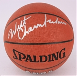 2000s Wilt Chamberlain Los Angeles Lakers Signed Basketball (JSA)