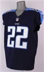 2017 Derrick Henry Tennessee Titans Home Jersey (MEARS A5)