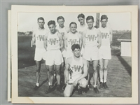 "1920s Local Track & Field Champions 7.5"" x 10"" Matted Photo Starring Arnie Herber (front row)"