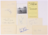 1950s-60s Baseball Football Boxing Signed Index Card Collection - Lot of 10 w/ Johnny Callsion, Carl Eller, Gene Fullmer, Bing Miller & More
