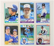 1982-83 Signed Baseball Trading Cards - Lot of 6 w/ Paul Molitor, Gaylord Perry & More (JSA)