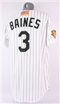 2001 (post-09/11) Harold Baines Chicago White Sox Home Jersey (MEARS A5) Final Season