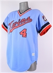 1977 Gene Mauch Minnesota Twins Game Worn Road Jersey (MEARS LOA)