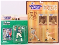 1989-96 Mickey Mantle Joe DiMaggio Dan Marino MOC Starting Lineup Figures