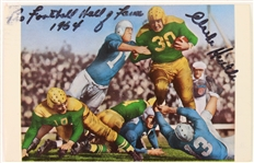 "1967 Clark Hinkle Green Bay Packers Dual Signed 3.5"" x 5.5"" Postcard (*JSA*)"