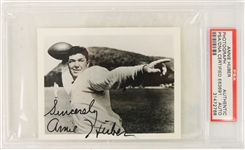 "1950s Arnie Herber Green Bay Packers Signed 3"" x 4"" Photo (PSA Slabbed)"