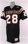 1993 Marshall Faulk San Diego State Aztecs Game Worn Home Jersey (MEARS LOA)